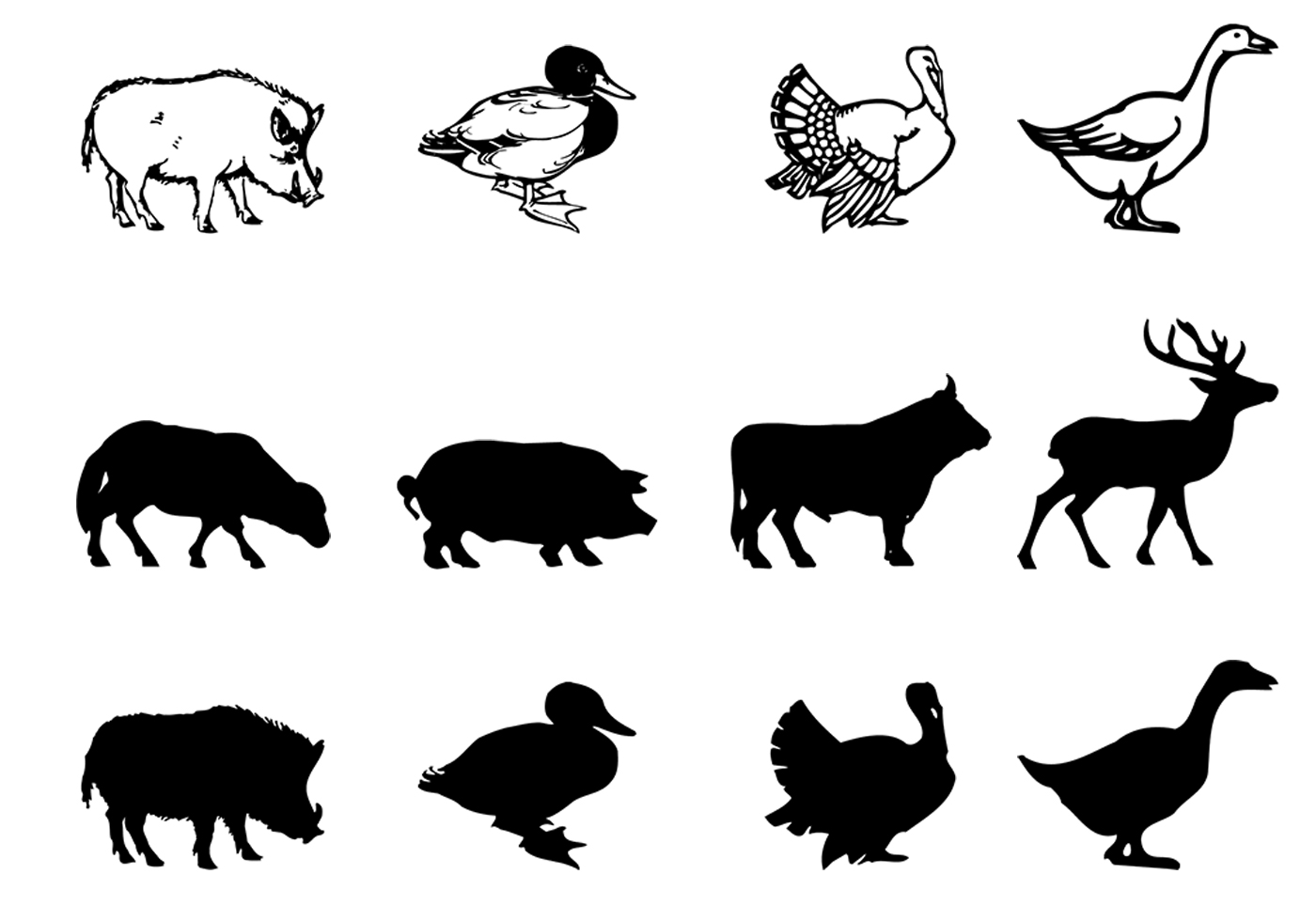 coloring face in photoshop farm animal brushes silhouettes pack free photoshop in photoshop coloring face