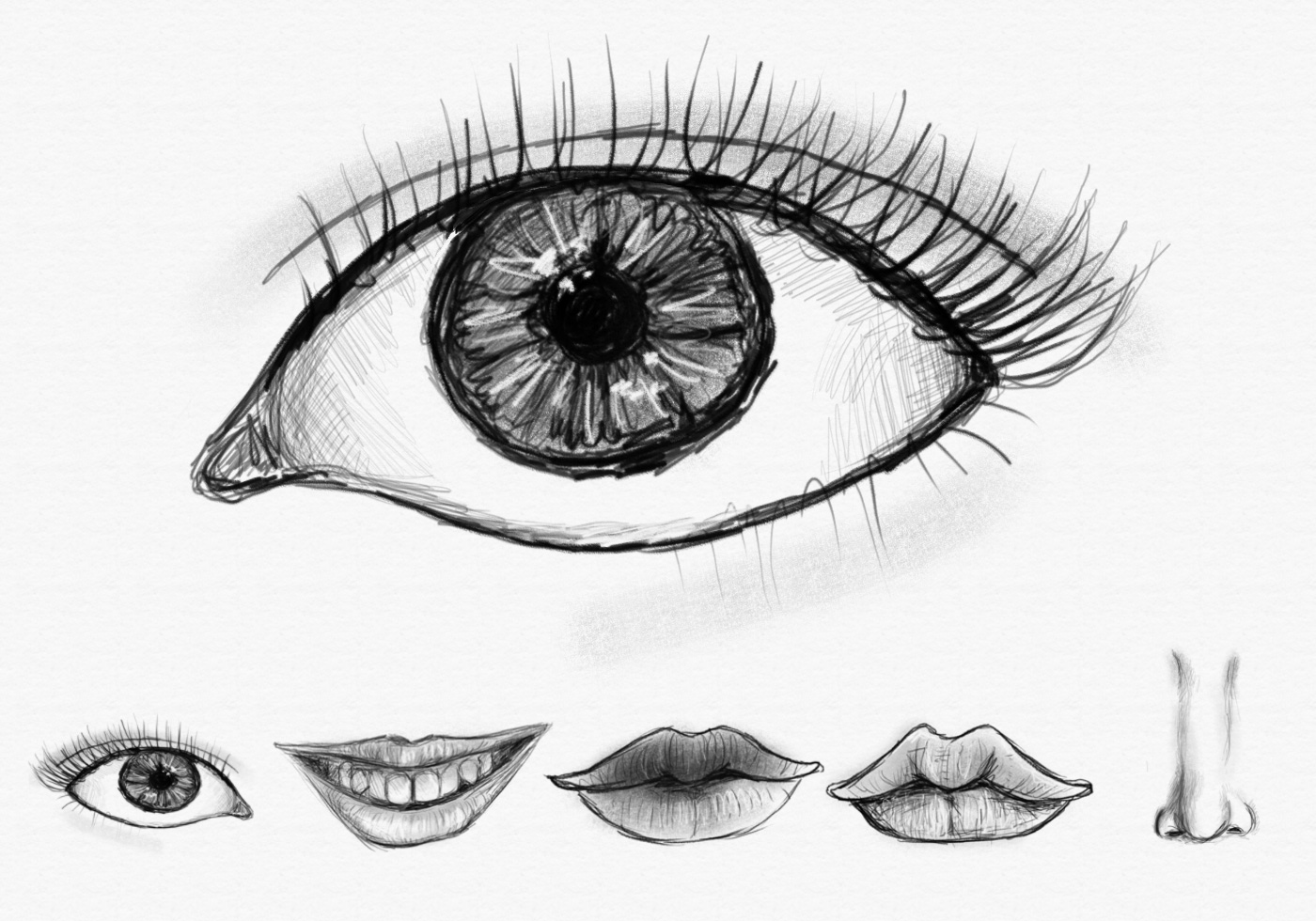 coloring face in photoshop tessart handdrawn eyes mouths and nose brush free in photoshop coloring face