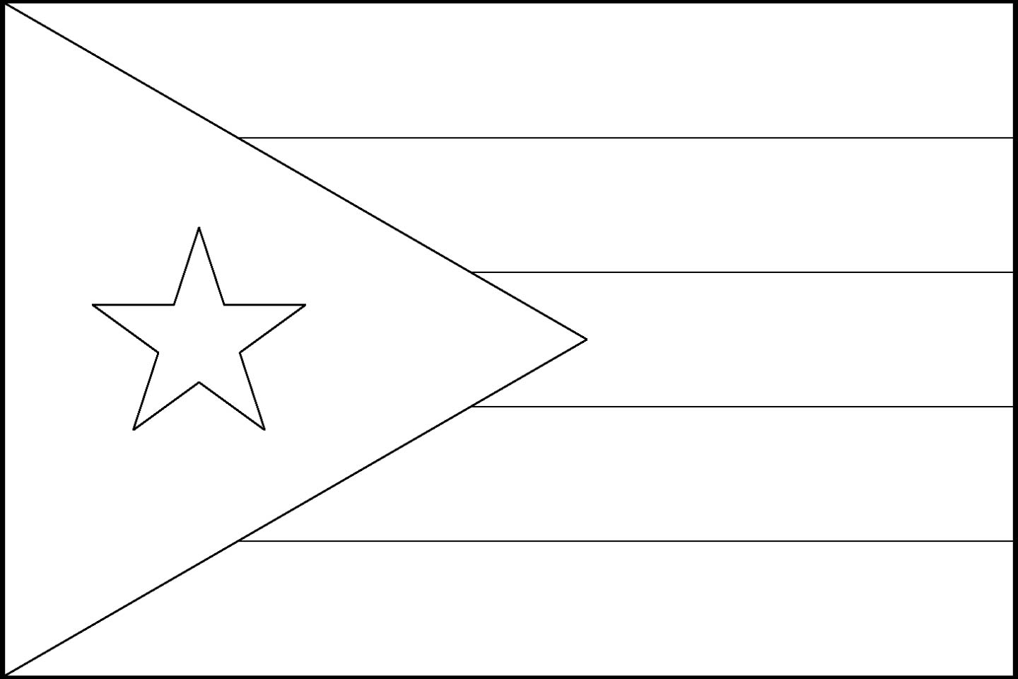 coloring flag of puerto rico a typical symbol of mardi gras fest coloring page puerto coloring flag of rico