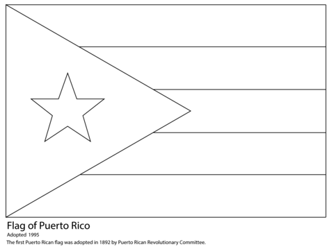 coloring flag of puerto rico coolest puerto rico flag coloring page httpcoloring coloring flag rico of puerto