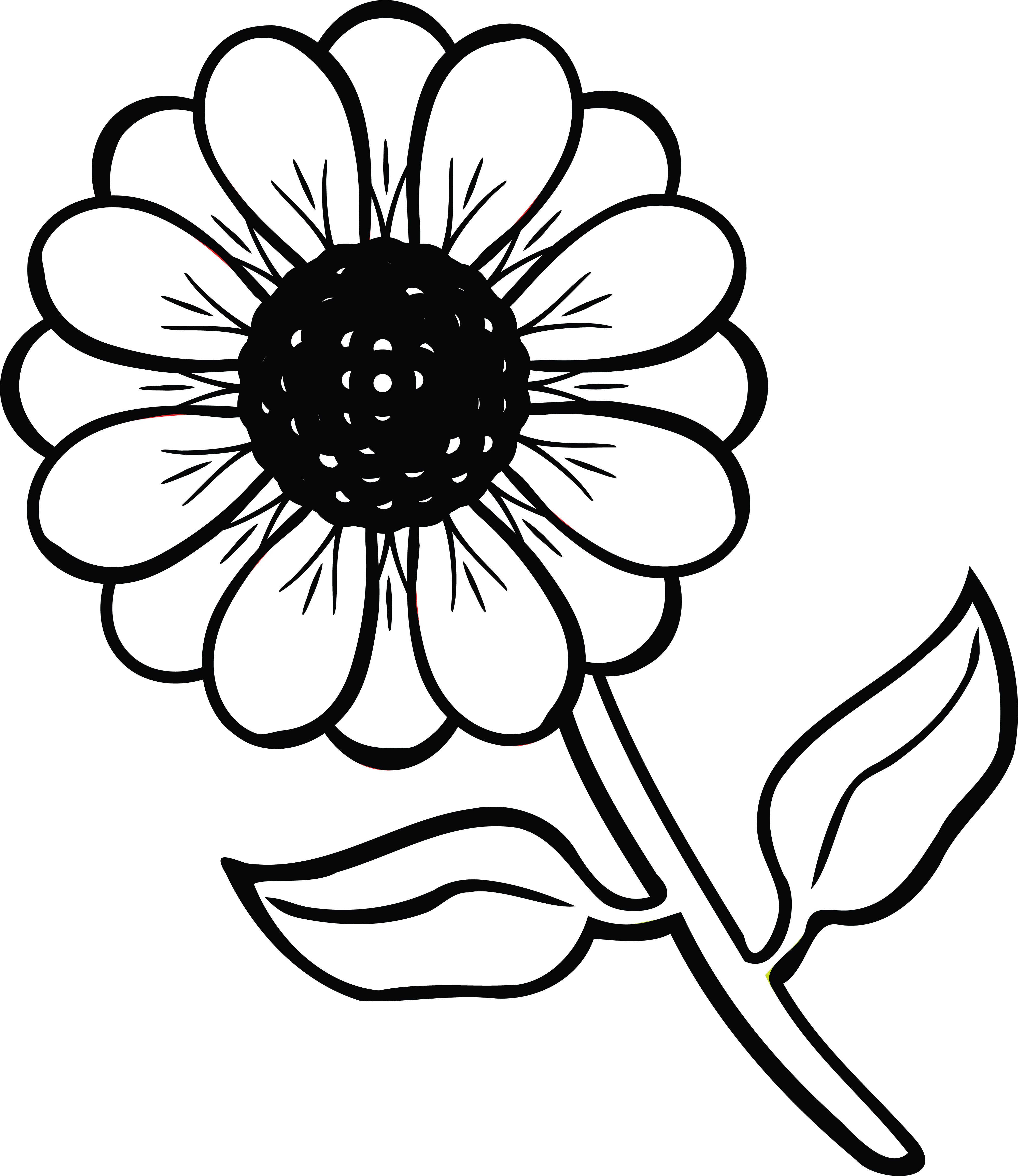 coloring flower clipart black and white black and white colorable sunflower free clip art flower white coloring clipart black and