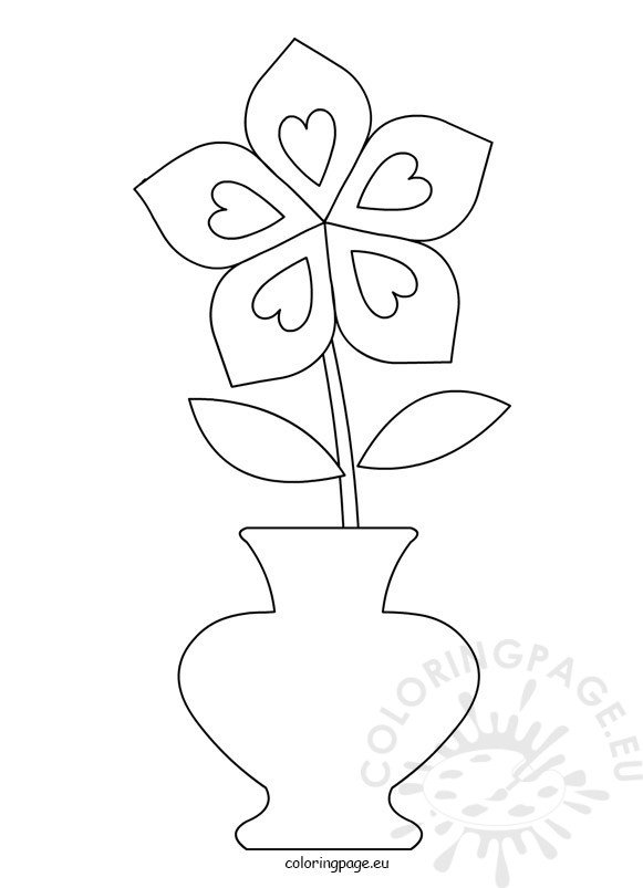 coloring flower clipart black and white flower pot clipart black and white coloring page flower and clipart coloring black white