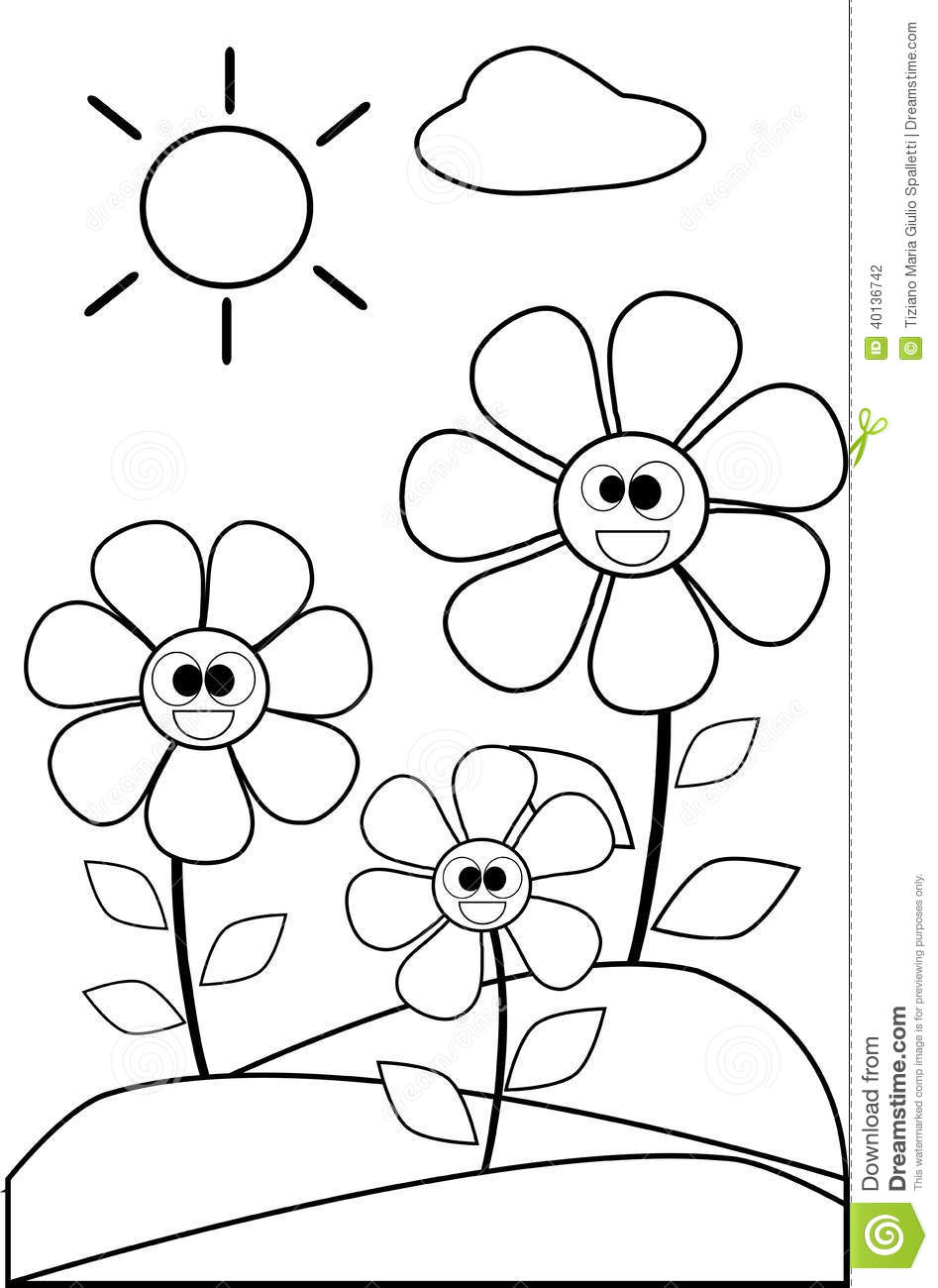 coloring flower clipart black and white magnolia flower black and white coloring book page stock and flower black clipart white coloring