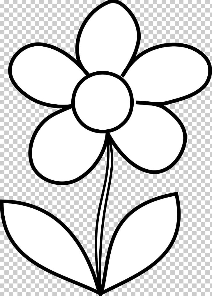 Coloring flower clipart black and white