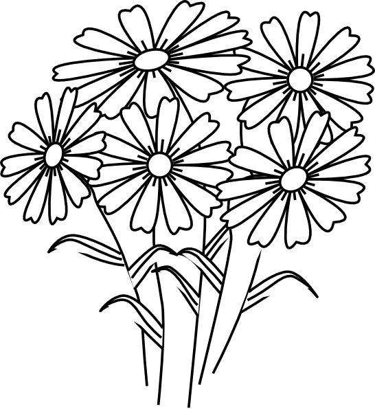 coloring flower clipart black and white tulip flower coloring page free clip art coloring flower black clipart and white