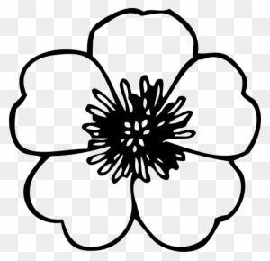 coloring flower clipart black and white vector illustration of large petals coloring flowers black coloring clipart and white flower