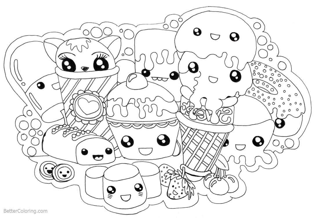 coloring food cute cute food coloring pages download and print cute food cute coloring food 1 1
