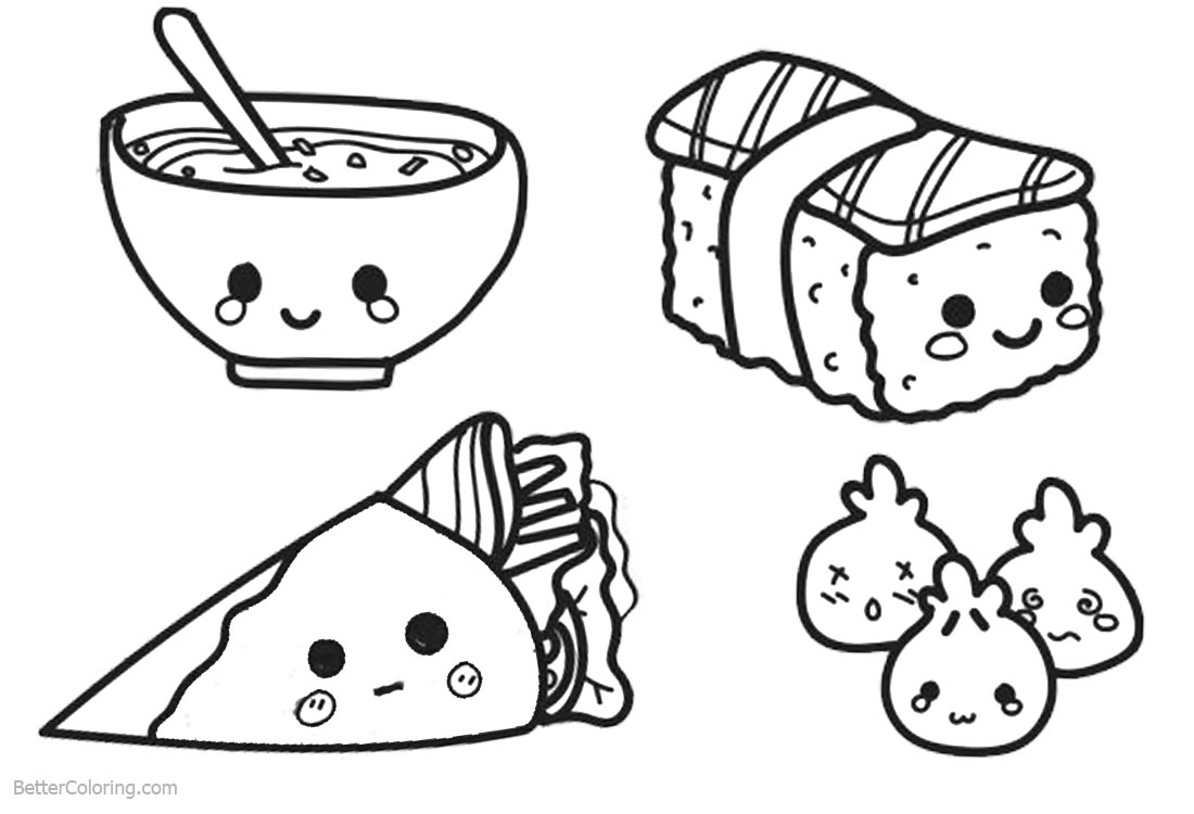 coloring food cute garbi food coloring pages kawaii coloring pages coloring food cute