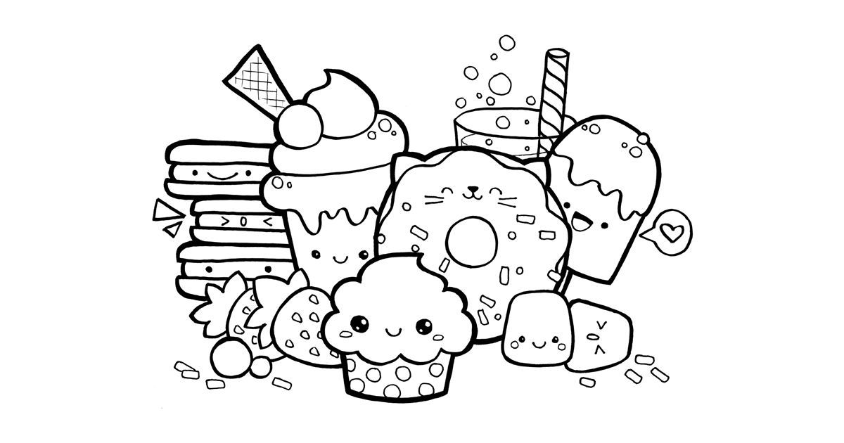 coloring food cute hard coloring pages cute food coloring pages coloring cute food