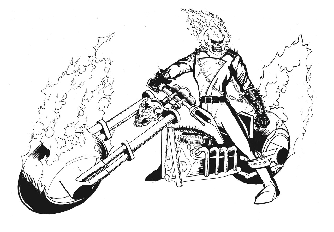 Coloring ghost rider