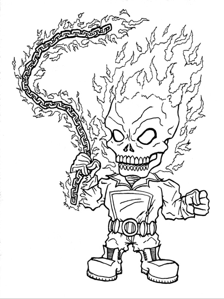 coloring ghost rider ghost rider coloring pages free printable ghost rider rider coloring ghost