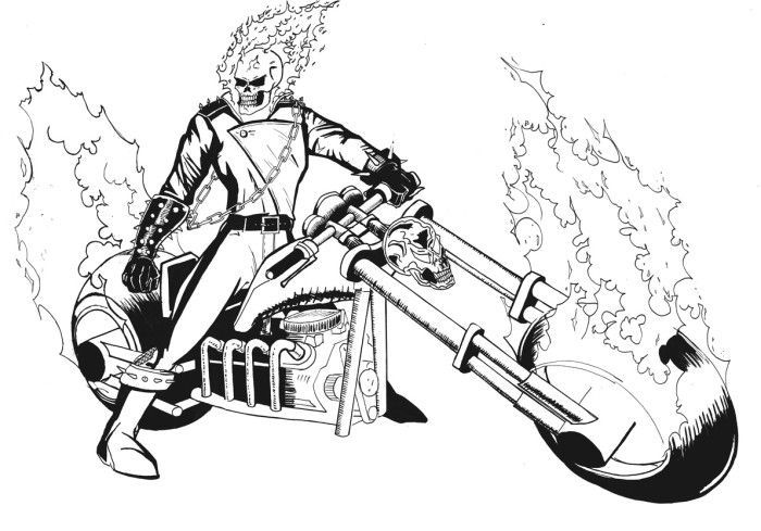 coloring ghost rider ghost rider coloring pages ghost coloring rider
