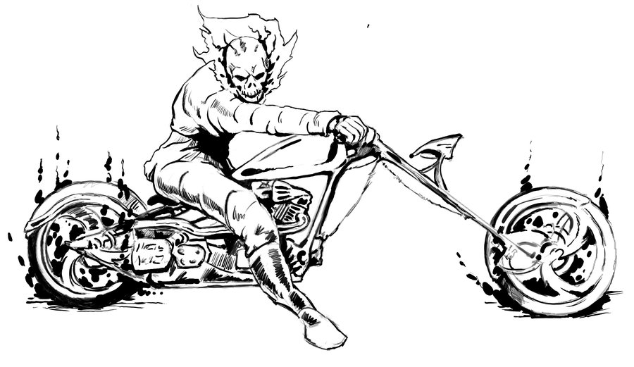 coloring ghost rider ghost rider coloring pages rider ghost coloring