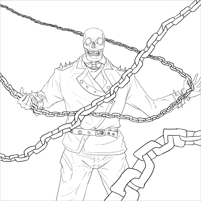 coloring ghost rider ghost rider coloring pages with images ghost rider rider coloring ghost