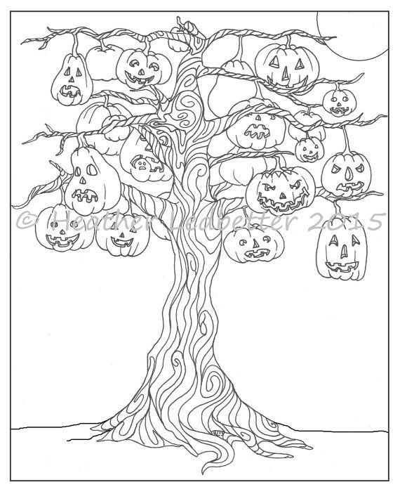 coloring halloween tree spooky tree coloring page kinderart coloring tree halloween