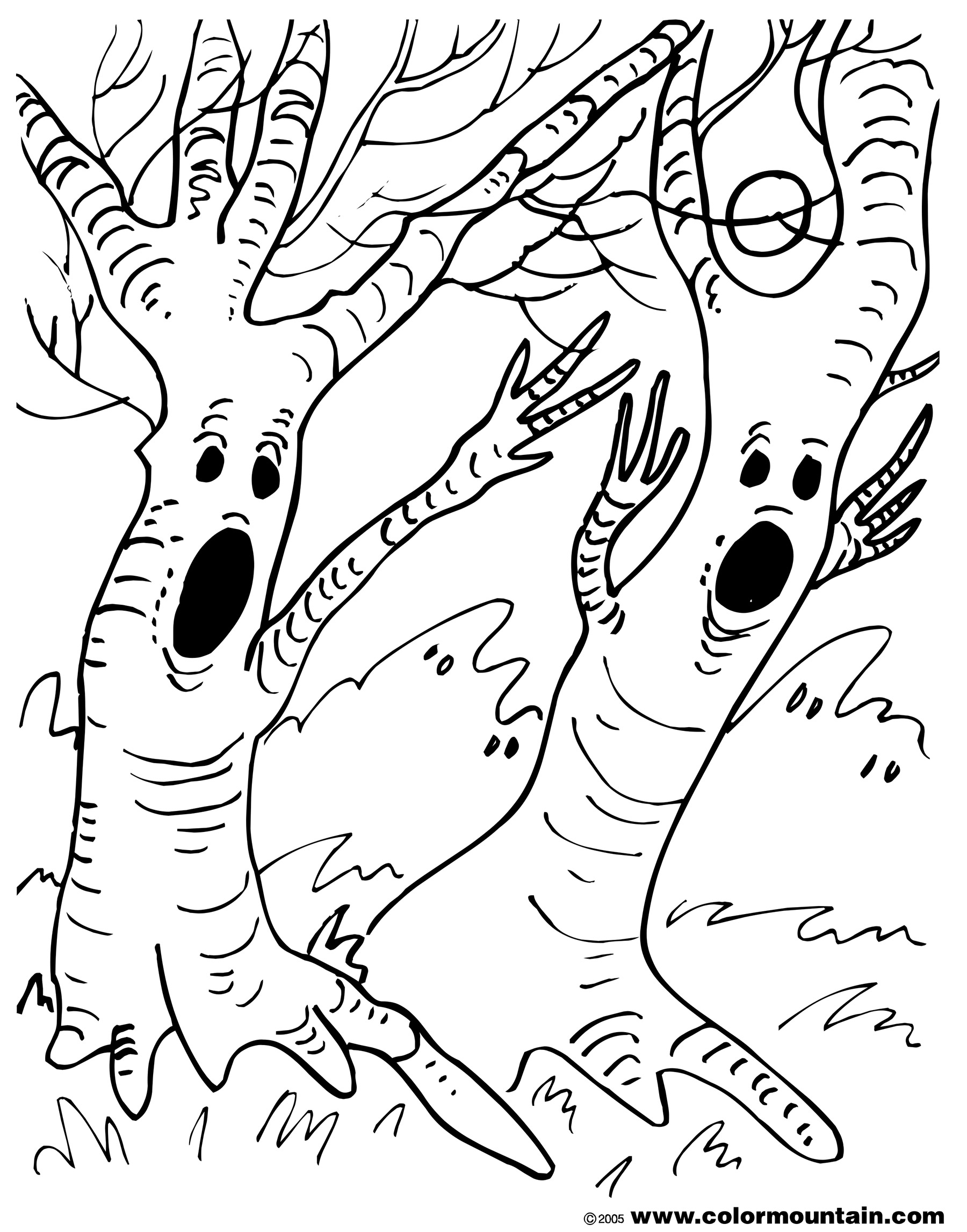 coloring halloween tree yucca flats nm wenchkin39s coloring pages halloween tree tree coloring halloween