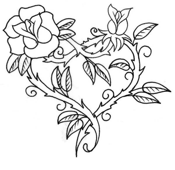 coloring hearts and roses be my valentine hearts and roses coloring page color hearts coloring and roses