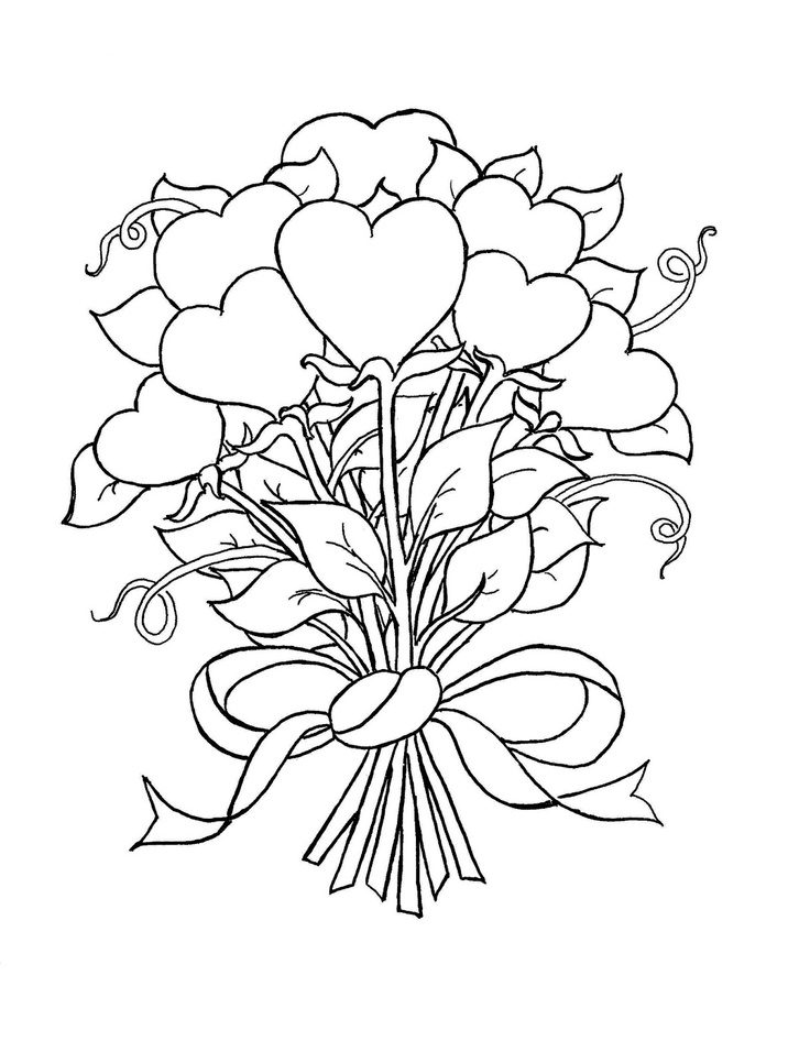 coloring hearts and roses coloring pages of hearts with wings and roses at coloring roses and hearts