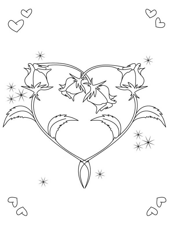 coloring hearts and roses detailed heart drawing at getdrawings free download roses hearts and coloring