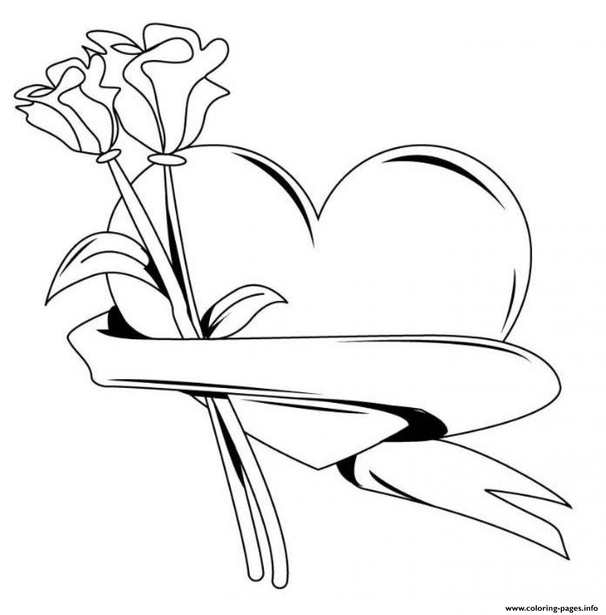 coloring hearts and roses free printable heart coloring pages for kids coloring roses hearts and
