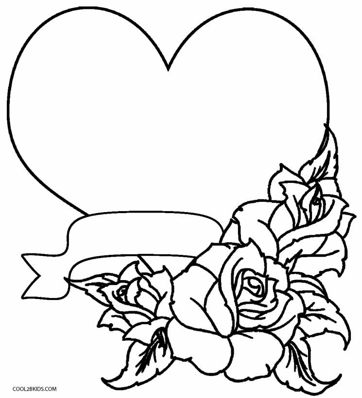 coloring hearts and roses free printable roses coloring pages for kids and roses hearts coloring