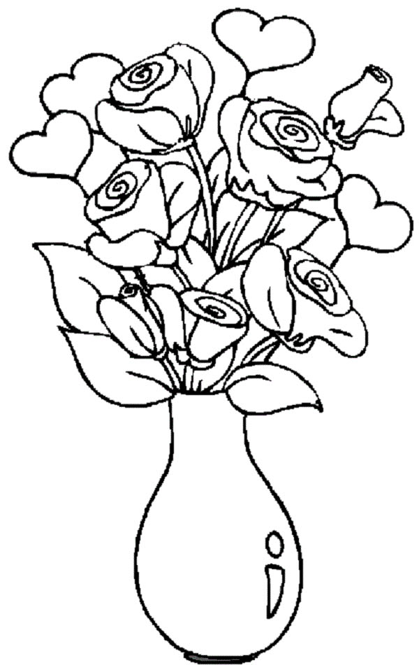 coloring hearts and roses roses drawings with hearts free download on clipartmag and roses coloring hearts