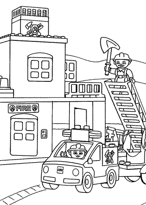 Coloring house on fire clipart black and white