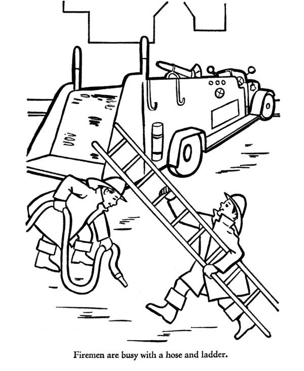 coloring house on fire clipart black and white fireman bring hose and ladder to fire truck coloring page and house clipart coloring fire on black white