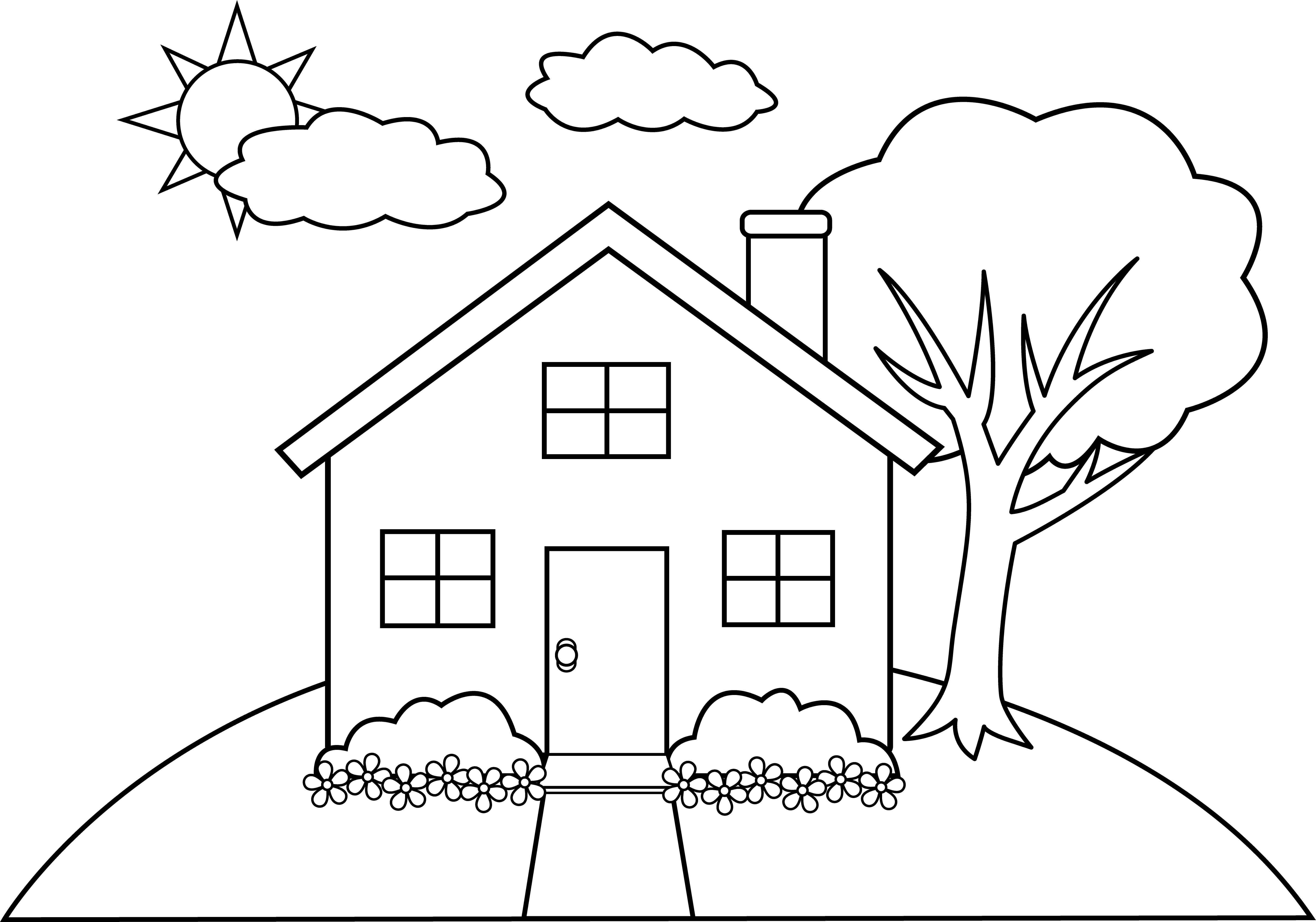 coloring house on fire clipart black and white library of black and white house on a hill clip png files and house fire white black clipart on coloring