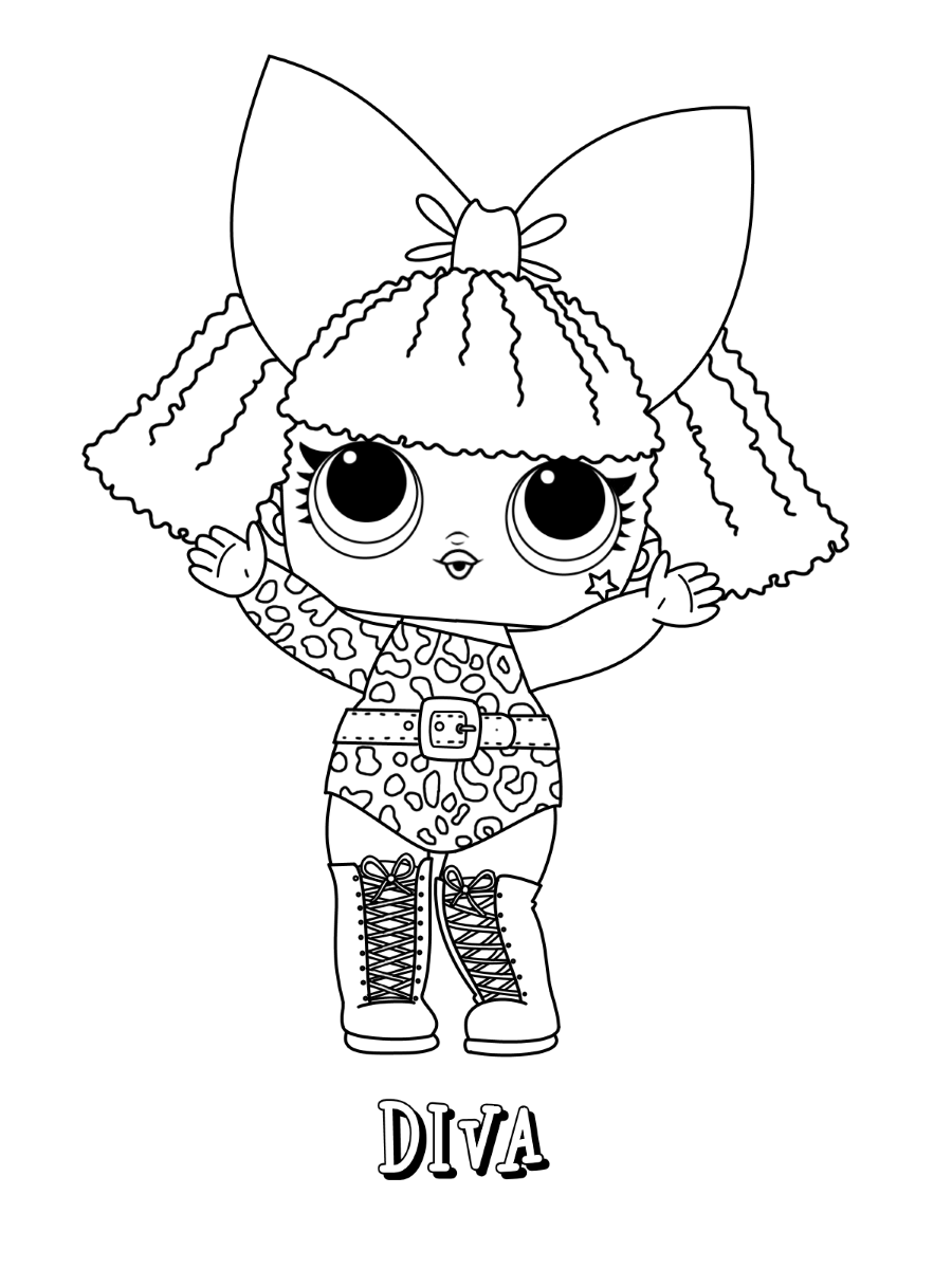 coloring images lol lol doll glitter queen coloring page free printable coloring images lol