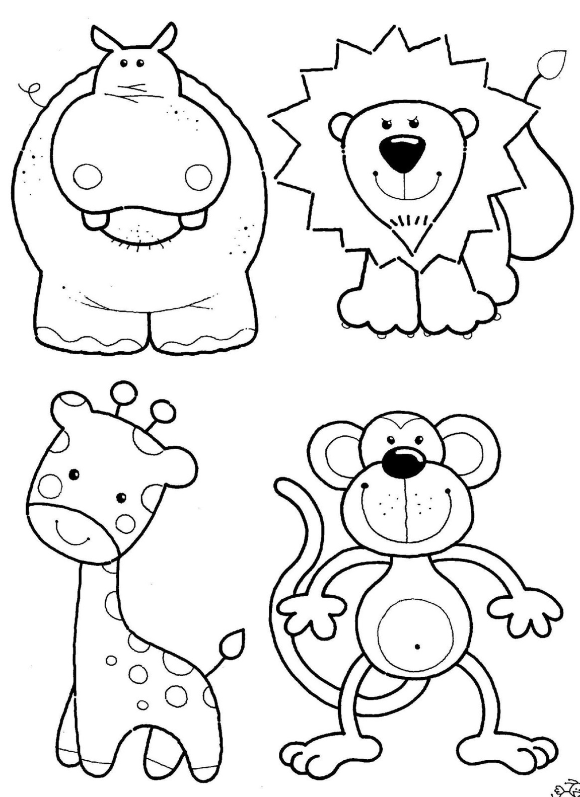 coloring images of animals jungle animal coloring pages to download and print for free animals images of coloring
