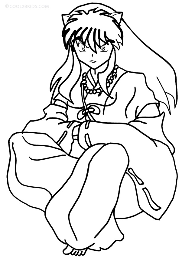 coloring inuyasha printable inuyasha coloring pages for kids cool2bkids coloring inuyasha
