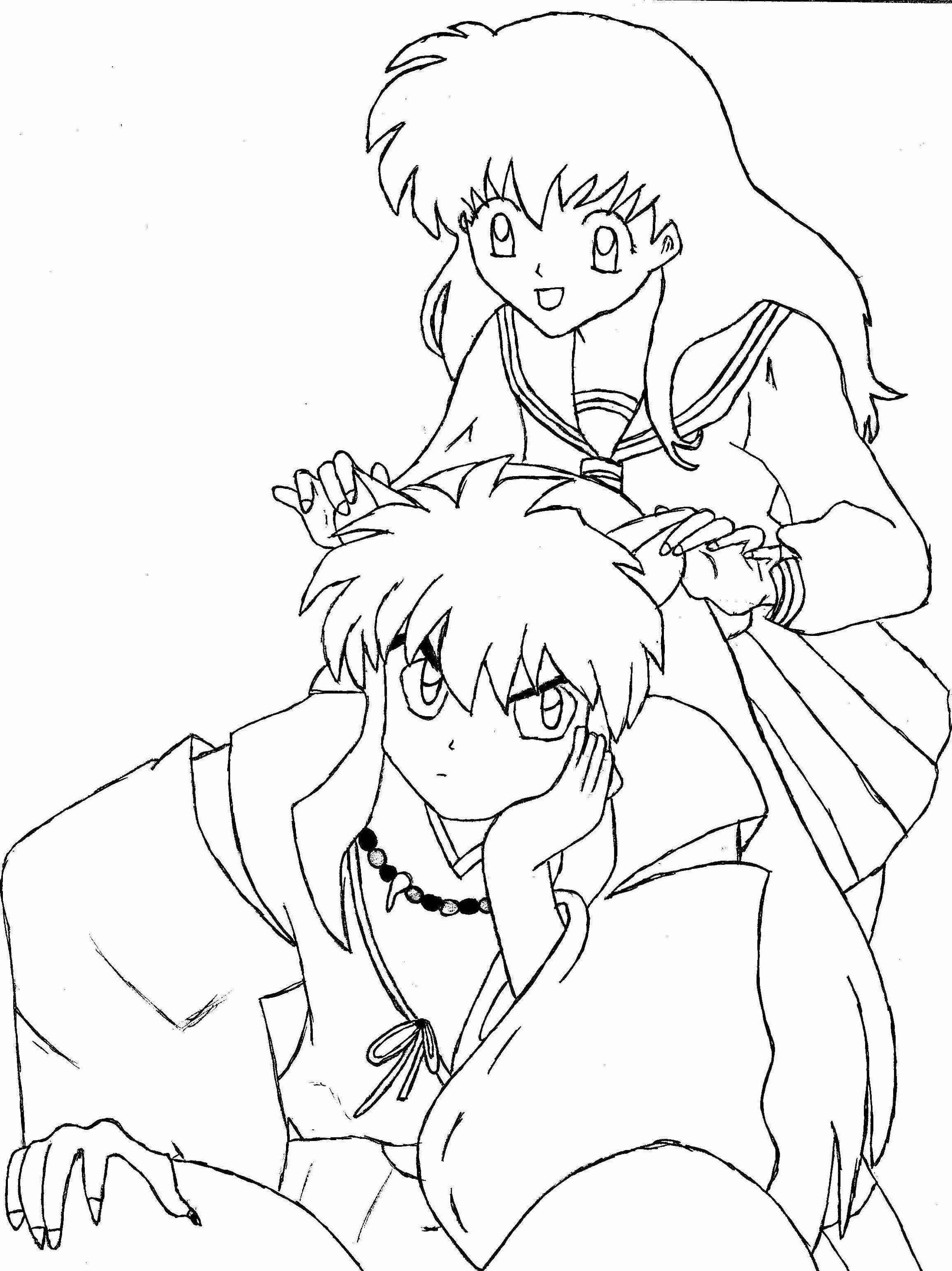 coloring inuyasha printable inuyasha coloring pages for kids cool2bkids inuyasha coloring