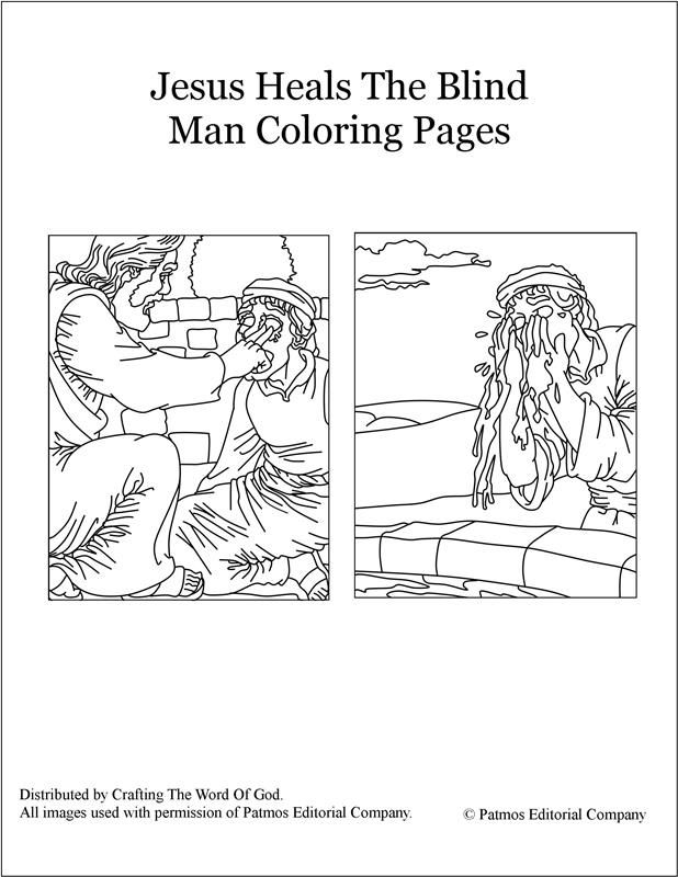 coloring jesus healed the blind man jesus heals a man by the pool coloring page coloring home blind the man coloring jesus healed