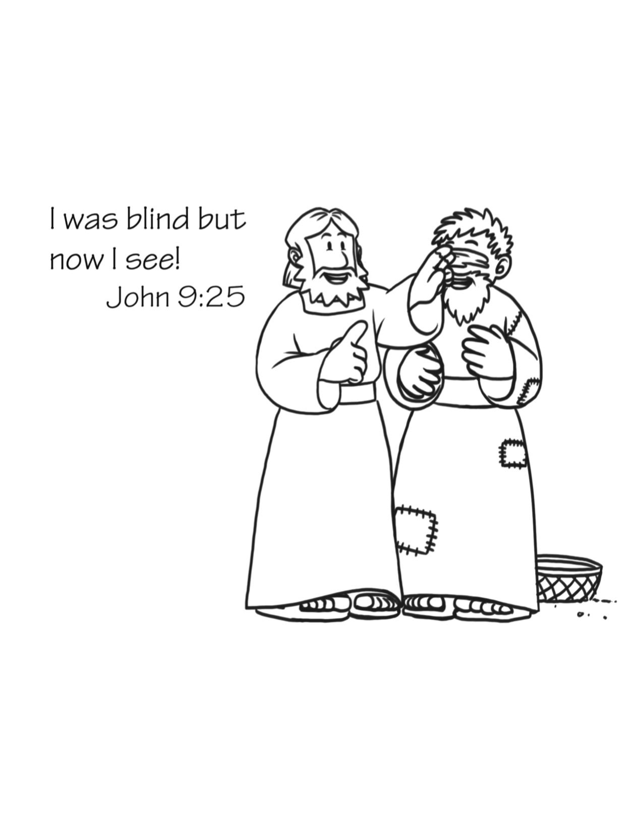 coloring jesus healed the blind man jesus heals the blind man catholic colouring pages for healed the jesus blind coloring man