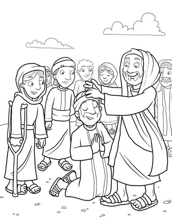 Coloring jesus miracles for kids