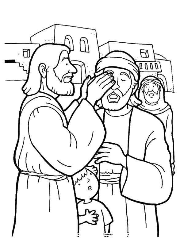 coloring jesus miracles for kids people worship the miracles of jesus coloring page netart jesus for kids coloring miracles