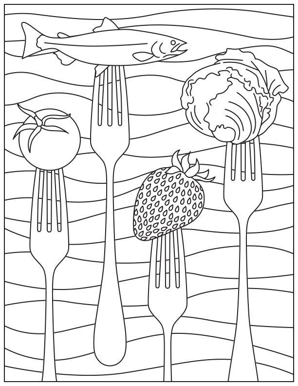 coloring kids menu ideas printable coloring page for national nutrition month ideas menu coloring kids