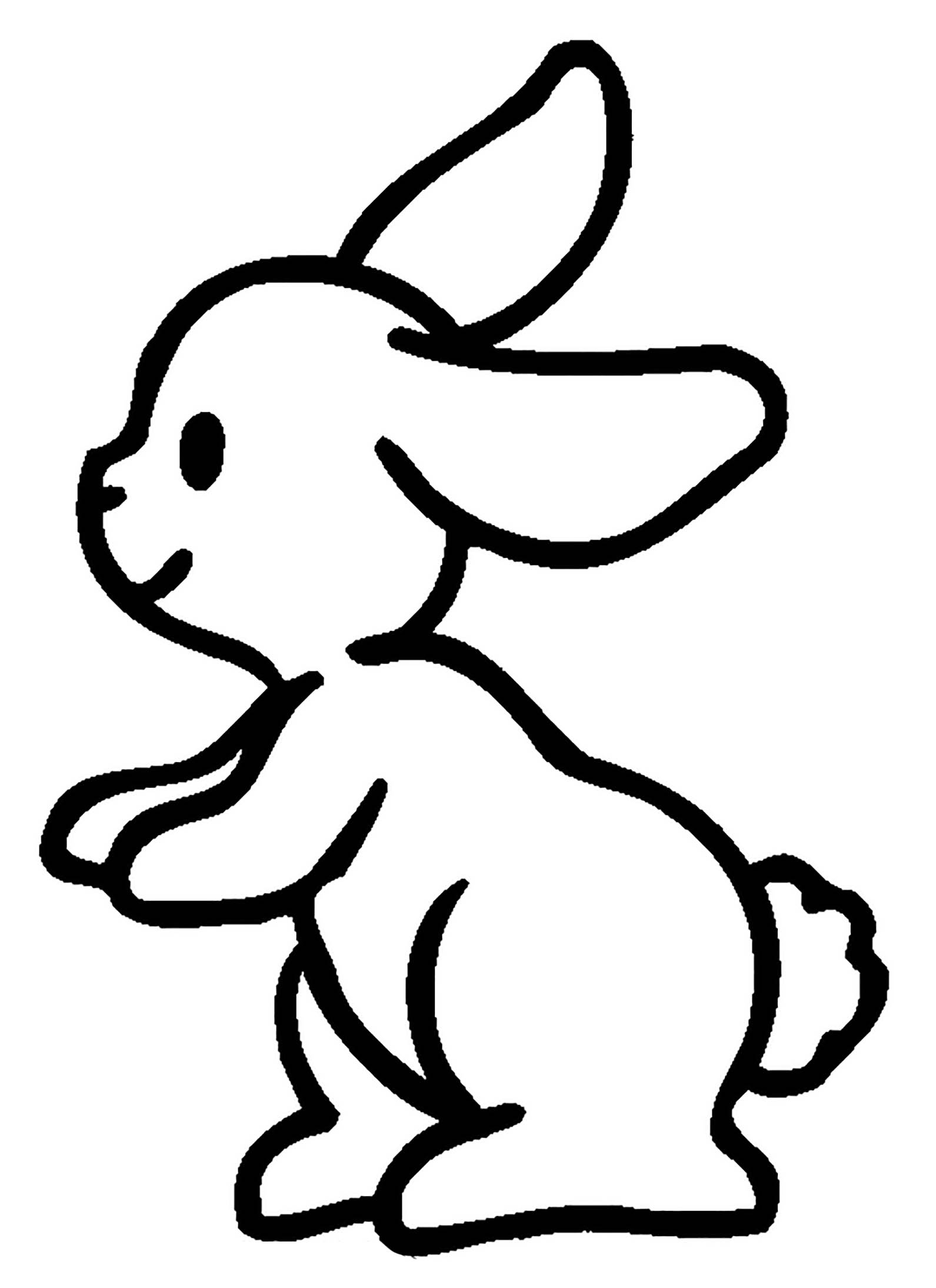 coloring kids rabbit hello rabbit coloring page for kids rabbit kids coloring