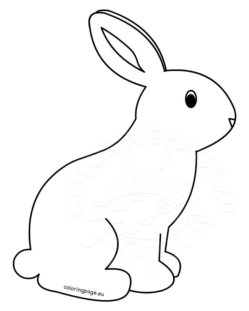 coloring kids rabbit hopping bunny is smiling coloring pages kids play color kids coloring rabbit