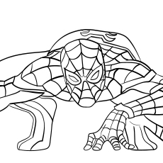 coloring kids spider man far from home coloring pages cool cute spiderman drawings tom holland listamp studio kids man spider from home pages far coloring coloring