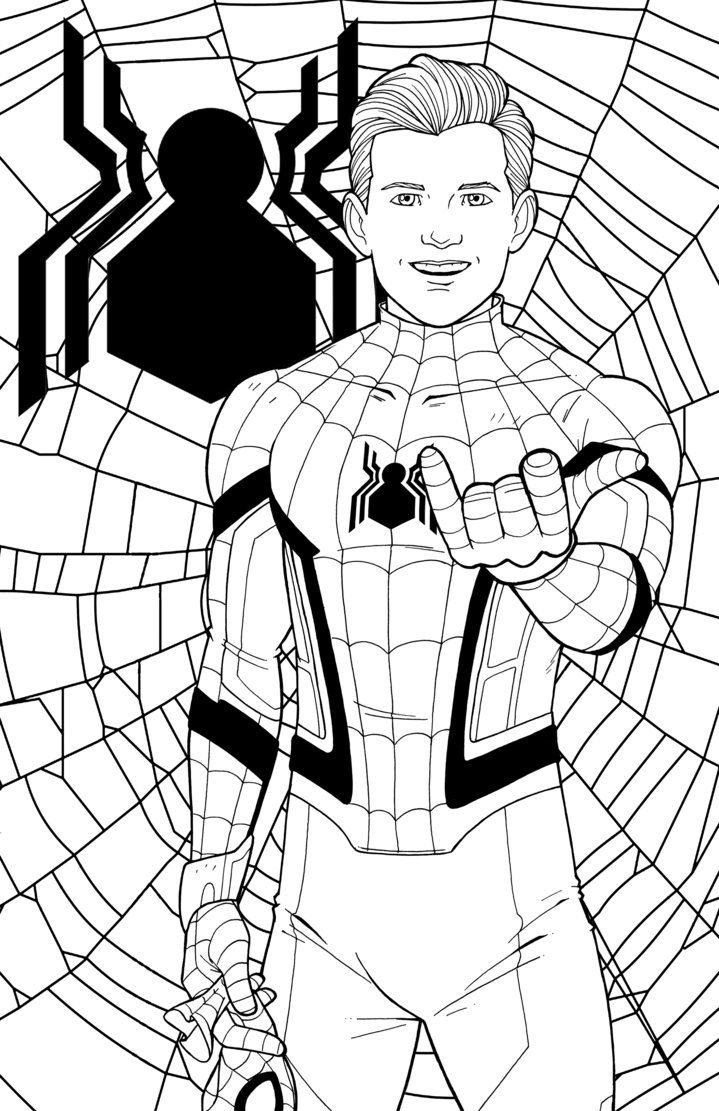 coloring kids spider man far from home coloring pages free printable spiderman coloring pages for kids coloring kids pages far from coloring spider home man