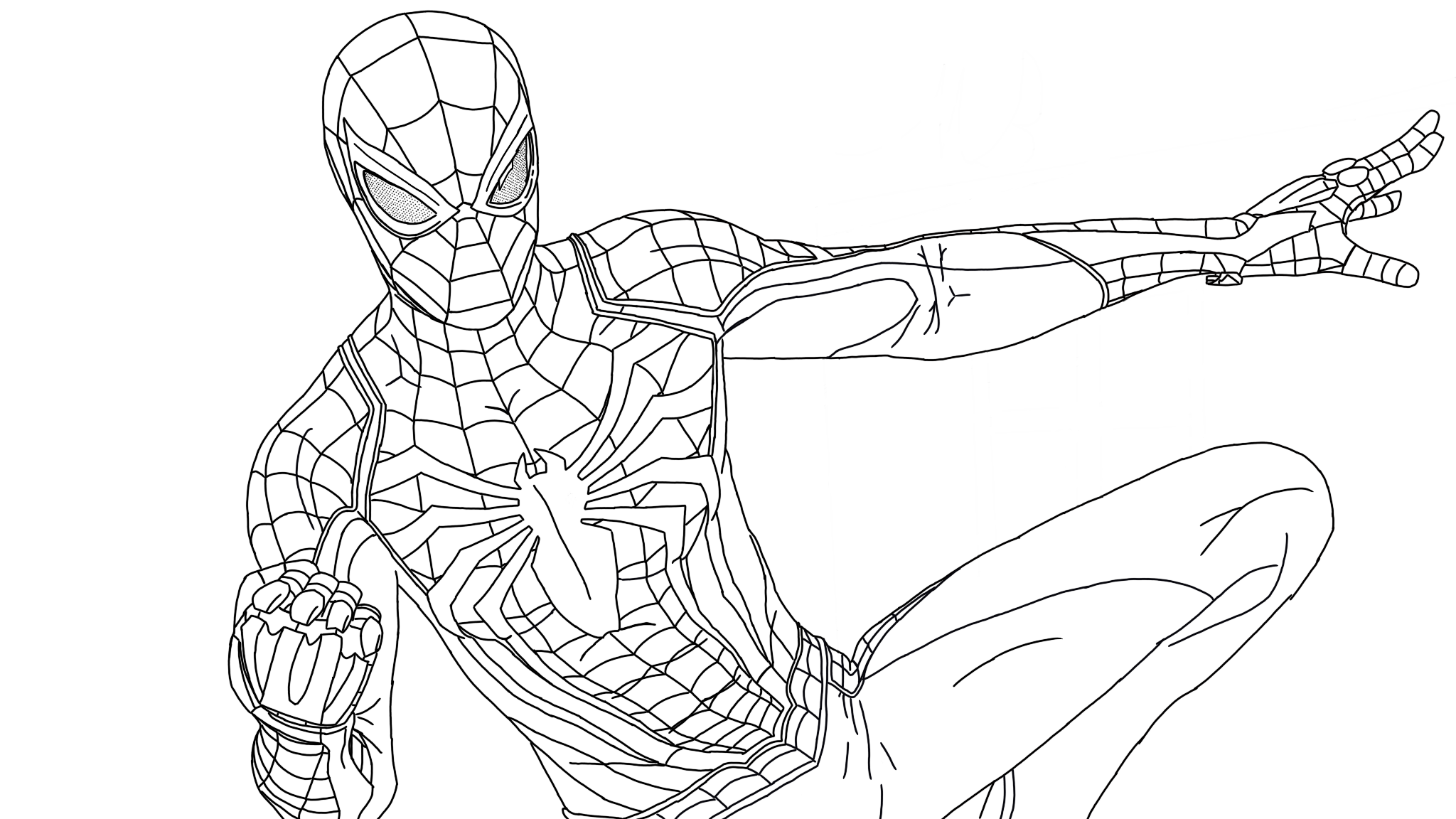 coloring kids spider man far from home coloring pages spider man ps4 superhero coloring pages coloring coloring from spider home far kids man pages