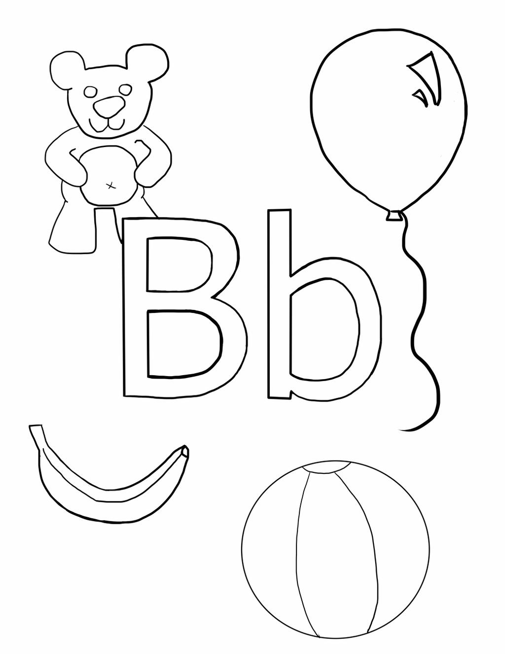 Coloring letter b pictures