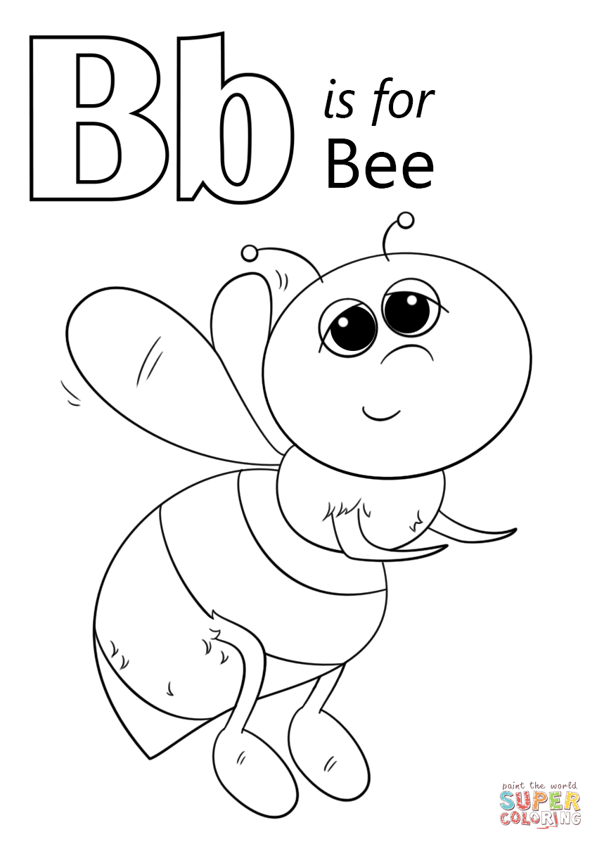 coloring letter b pictures letter b is for bee coloring page free printable coloring letter pictures b
