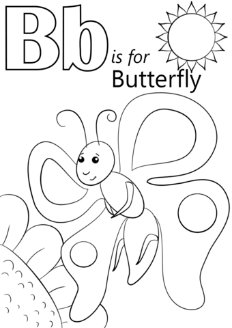 coloring letter b pictures letter b is for butterfly coloring page free printable b letter pictures coloring