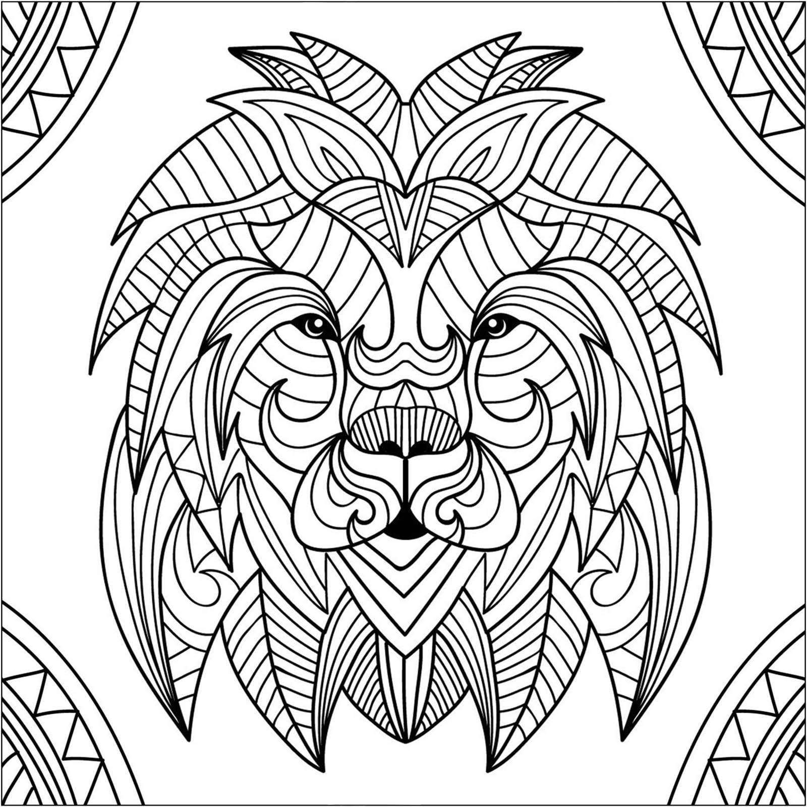 coloring lion color lion coloring pages clipart and other free printable coloring lion color