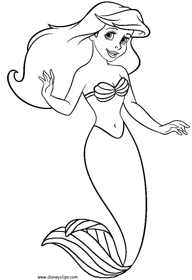 coloring little mermaid ariel the little mermaid coloring pages for girls to print mermaid little coloring