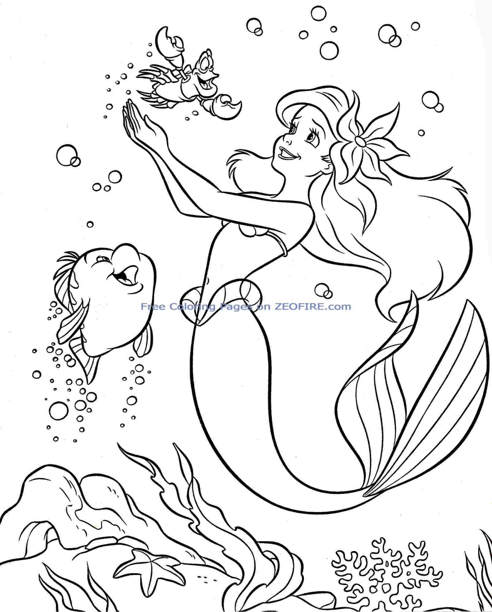 coloring little mermaid little mermaid coloring pages to download and print for free little mermaid coloring