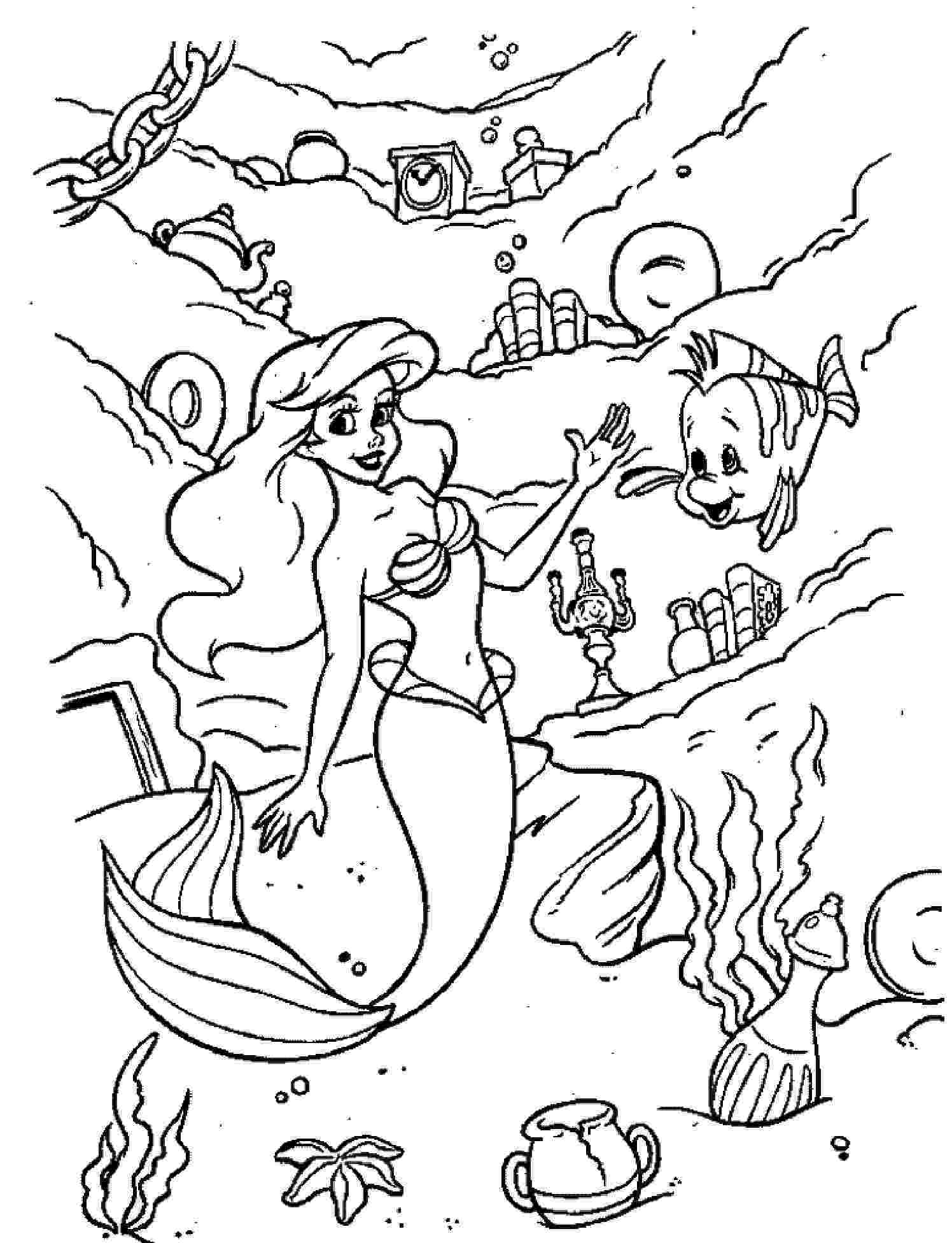 coloring little mermaid print download find the suitable little mermaid coloring mermaid little